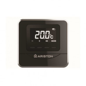 Termostato ambiente wireless Cube Room Sensor RF Ariston colore Nero
