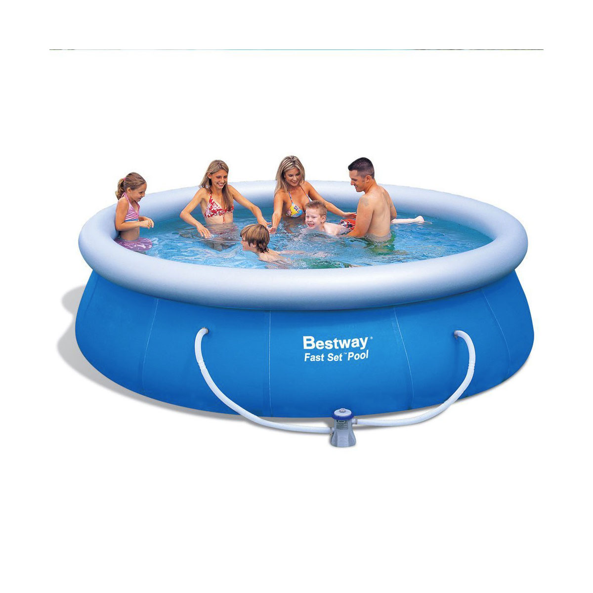 Piscina rotonda bestway 57166 autoportante 366xh91 con for Ebay piscinas